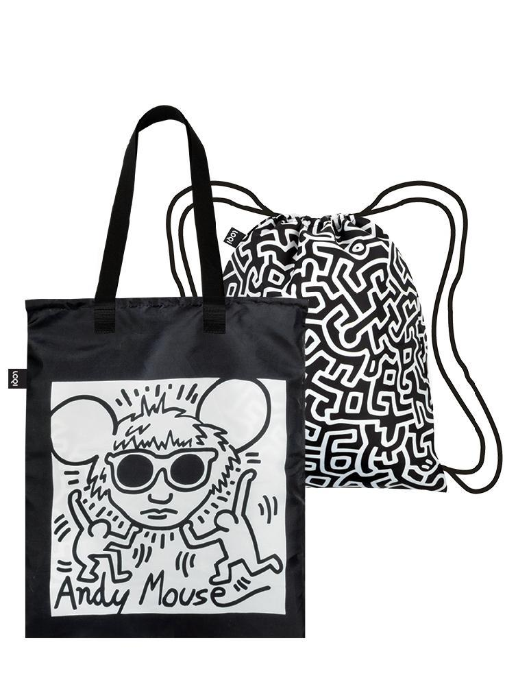 Duo Backpack - KEITH HARING Andy Mouse & Untitled