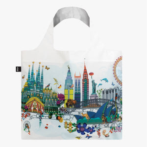 Tote Bag - KRISTJANA S WILLIAMS INTERIORS World Skyline