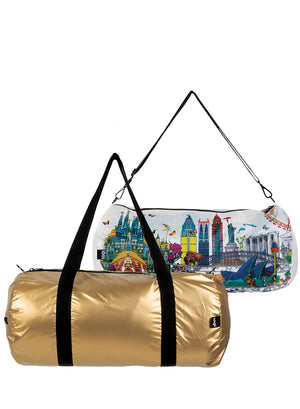 WEEKENDER - KRISTJANA S WILLIAMS INTERIORS Gold & World Skyline