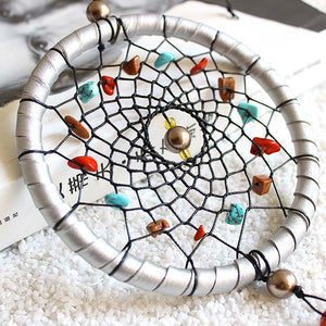 Silver Dream Catcher Feathers Core Bead Dreamcatcher Wall Car Decoration