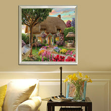 Load image into Gallery viewer, Garden Cottage - Partial Round Diamond - 30x30cm