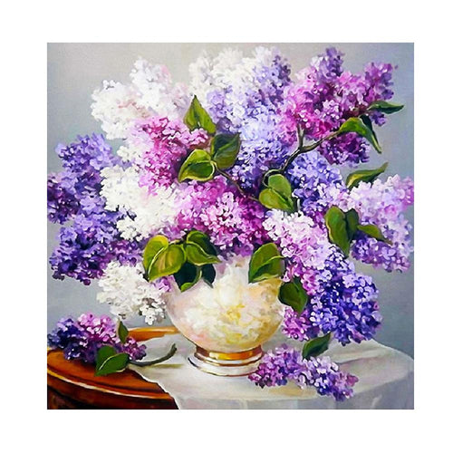 Lavender 5D DIY Round Drill Diamond Painting