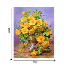 Load image into Gallery viewer, Flowers - Partial Round Diamond - 30x40cm