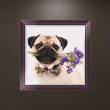 Load image into Gallery viewer, Dog Flower - Partial Round Diamond - 30x30cm