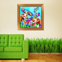 Load image into Gallery viewer, Colorful Animal - Partial Round Diamond - 30x30cm