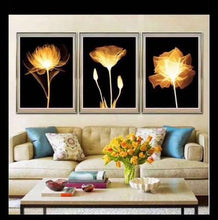 Load image into Gallery viewer, 3Pcs Flower - Full Round Diamond - 95x45cm