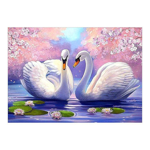 Two White Swans 5D DIY Diamond Painting