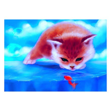 Load image into Gallery viewer, Red Cat - Partial Round Diamond -