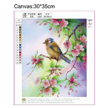 Load image into Gallery viewer, Frameless Branch Bird - Partial Round Diamond - 30x35cm