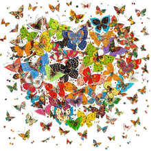 Load image into Gallery viewer, Butterfly Heart - Full Round Diamond - 30x30cm