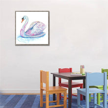 Load image into Gallery viewer, Swan - Partial Round Diamond - 30x30cm