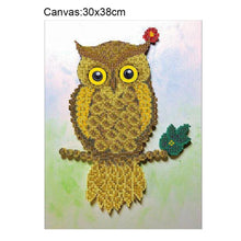 Load image into Gallery viewer, Night Bird - Partial Round Diamond - 30x38cm