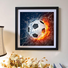 Load image into Gallery viewer, Football 5D DIY Full Drill Round Diamond Painting