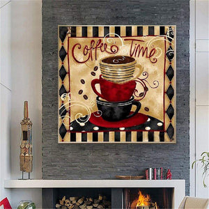 Diamond Painting DIY Retro Coffee Full Drill Kit