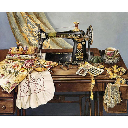 Sewing Machine Full Drill Paintings