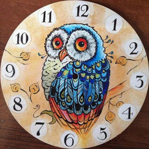 Animal Wall Clock - Full Diamond Painting - 30x30cm