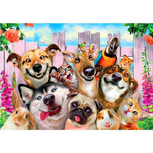 5D DIY Full Drill Diamond Painting Dogs Mosaic Kits