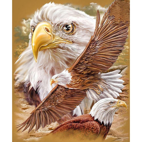 5D DIY Full Drill Diamond Painting Eagle Cross Stitch Embroidery Mosaic Kit