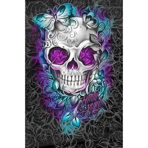 5D DIY Full Drill Diamond Painting Skull Mosaic Kit