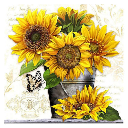 5D DIY Full Drill Square Diamond Painting Sunflower
