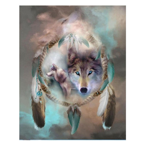 Wolf  5D DIY Full Drill Square Diamond Painting