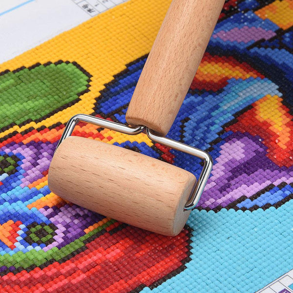 Wooden Roller for DIY Diamond Painting Cross Stitch Art Crafts Tools