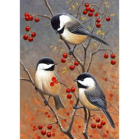 5D DIY Full Drill Diamond Painting Spring Birds Kit