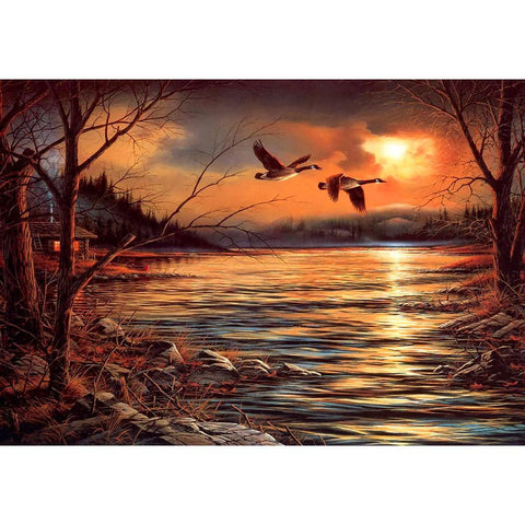 Sunset Bird Lake 5D DIY Full Drill Diamond Painting