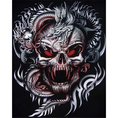 Novelty Skull 5D DIY Full Drill Diamond Painting