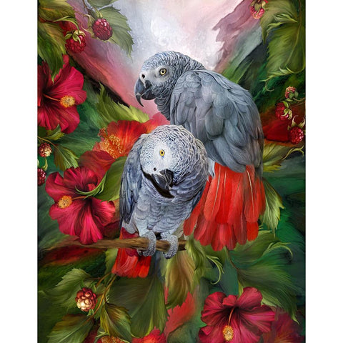 Parrots Birds 5D DIY Full Drill Diamond Painting