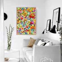 Load image into Gallery viewer, Colorful Flower Butterfly - Full Round Diamond - 40x30cm