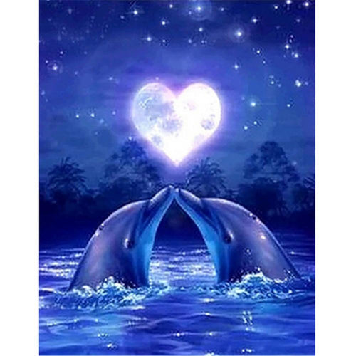 Dolphin Love 5D DIY Full Drill Diamond Painting