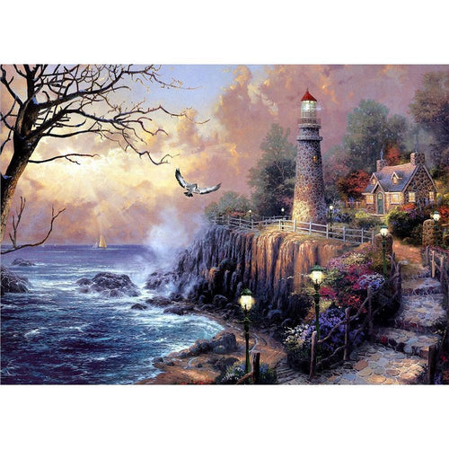 5D DIY Full Drill Diamond Painting Fantasy Village