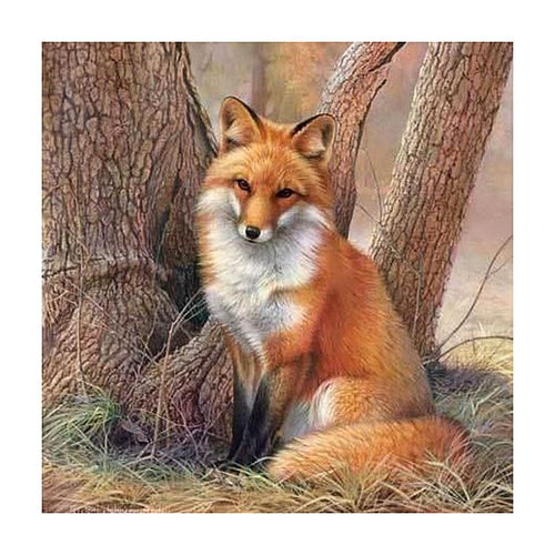 5D DIY Full Drill Diamond Painting Fox Mosaic Kit