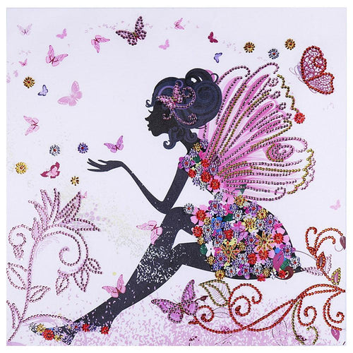5D DIY Special Shaped Diamond Painting Butterfly Fairy Kits