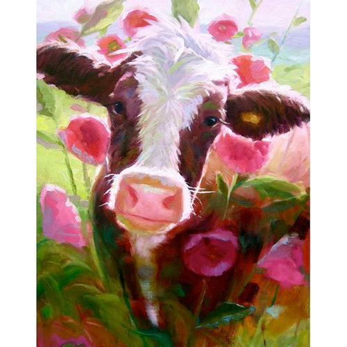5D DIY Full Drill Diamond Painting Cow Mosaic Kit