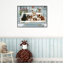 Load image into Gallery viewer, Dogs Cat - Full Round Diamond - 30x40cm