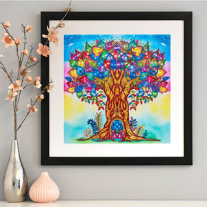 Colorful Tree - Special Shaped Diamond - 30x30cm