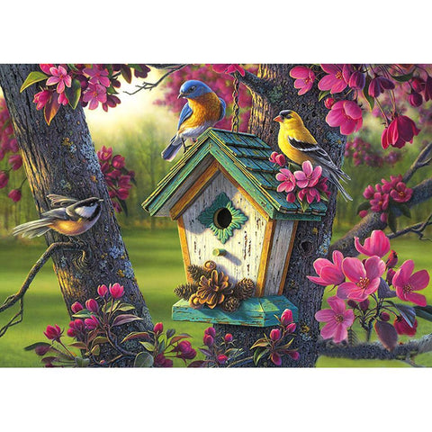 5D DIY Full Drill Diamond Painting Parrot Mosaic