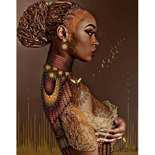 5D DIY Full Drill Diamond Painting Ethnic Character Kits