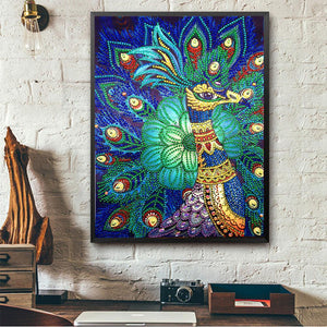 Peacock - Special Shaped Diamond - 30x40cm