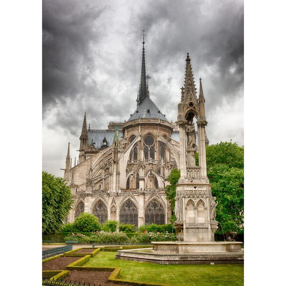 Notre Dame de Paris  - Full Round Diamond - 30x40cm
