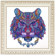 Load image into Gallery viewer, Lion Head - Special Shaped Diamond - 30x30cm