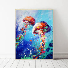 Load image into Gallery viewer, Jellyfish - Full Round Diamond - 30x40cm