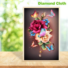 Load image into Gallery viewer, Flower Butterfly  - Full Round Diamond - 30x48cm