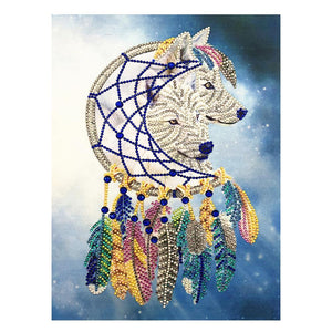 Wolf - Special Shaped Diamond - 30x40cm
