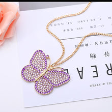 Load image into Gallery viewer, Key Chain Butterfly Necklace Bag Pendant