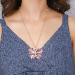 Key Chain Butterfly Necklace Bag Pendant