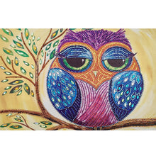 Load image into Gallery viewer, Owl Special Shaped  5D DIY Diamond Painting