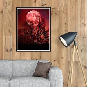 Moon Scenery  - Full Round Diamond - 40x30cm